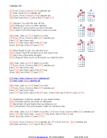 Calendar Girl – with chords key F