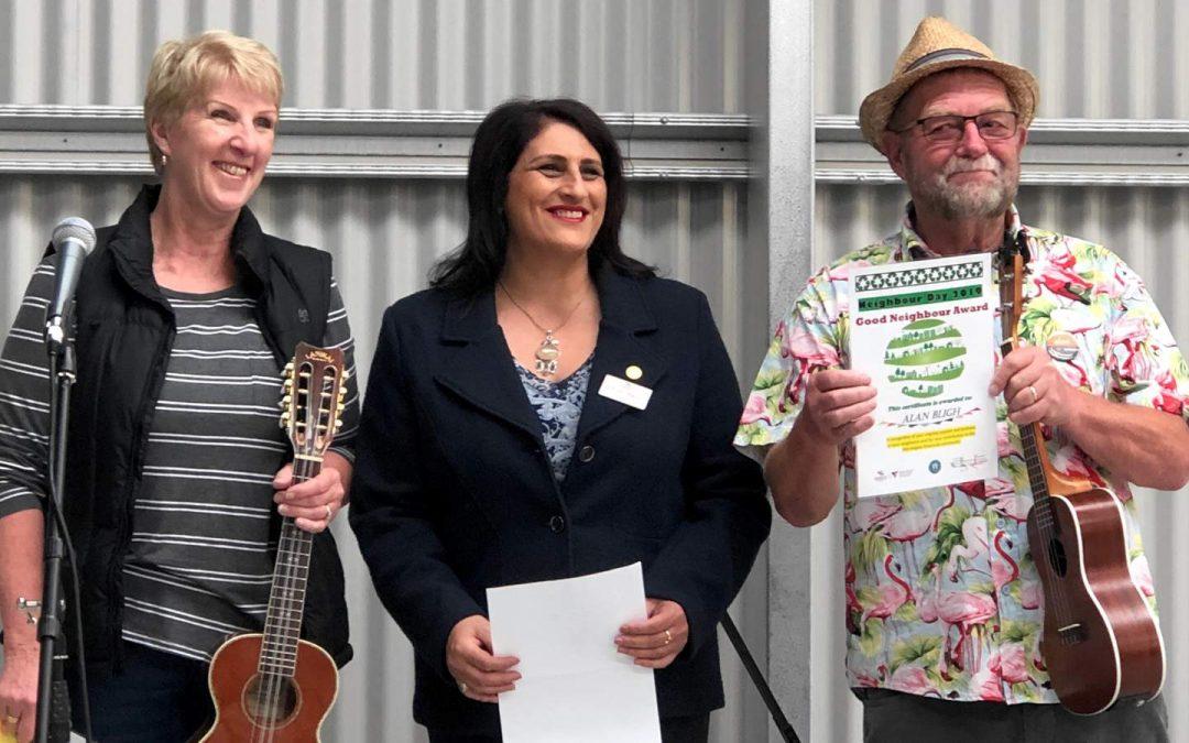 Neighbour Day Award for Karen and Alan